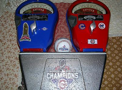 Chicago CUBS Custom World Series Champions Dual Rockwell Parking Meters 5-10Ct
