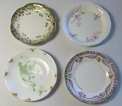 4 Assorted Antique Butter Pats Noritake Alfred Meakin M L China Green Flowers