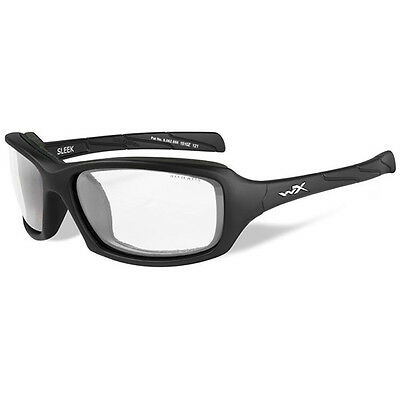 Wiley X Sleek Matte Black Frame Clear Lens Sunglasses