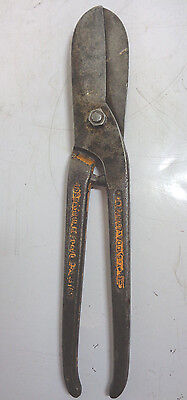 """Vintage 10"""" Footprint Tin Snips Collectable"""