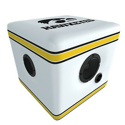 Rainmaker Hawkeyes Speaker Ottoman-White/Black