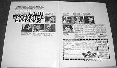 1973 American Film Theatre Ad~8 enchanted evenings~films from B'way/London plays