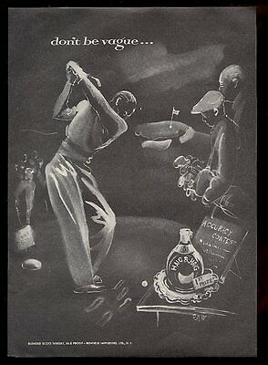 1952 Haig & Haig Scotch whisky golf golfer teeing off art vintage print ad