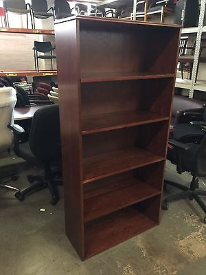 HEAVY DUTY BOOKCASE by KIMBALL OFFICE FURNITURE in CHERRY WOOD