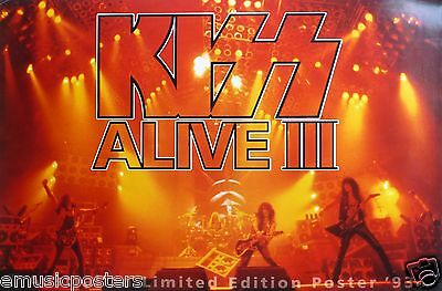 """KISS """"ALIVE III-AUSTRALIAN LIMITED EDITION POSTER 1993"""" POSTER -Band In Concert"""