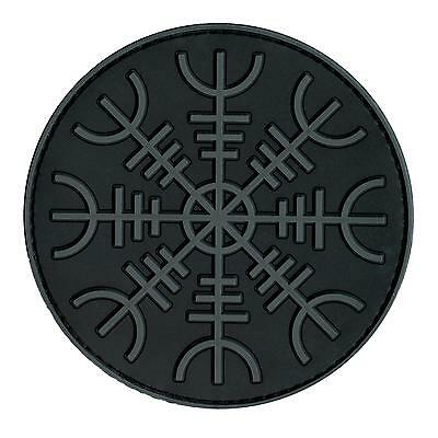 Viking Aegishjalmr Helm of Terror Awe PVC rubber subdued touch fastener patch
