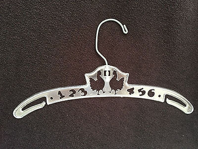 Vintage Antique Baby Childrens Clothing Hanger CLEAR CHICKENS NUMBERS
