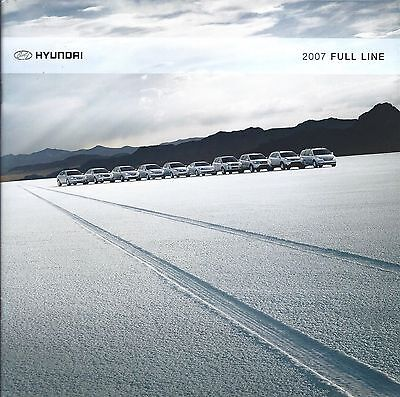 Auto Brochure - Hyundai - Product Line Overview - 2007  (A1147)
