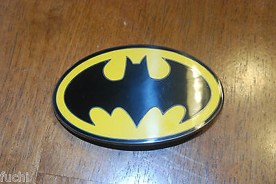 DC Comics Batman Yellow & Black Symbol Belt Buckle, Metal