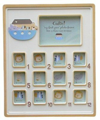 Green Animal Arc First Year Picture Frame, New