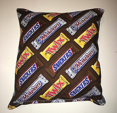 Twix Candy Pillow Snickers & 3 Musketeers Candy Pillow HANDMADE in USA Pillow