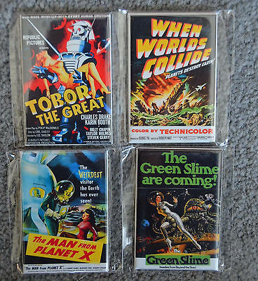 Lot of 4 2x3 MAGNET Classic 50s 60s Bad B MOVIE SCI-FI HORROR Flick POSTER ART A