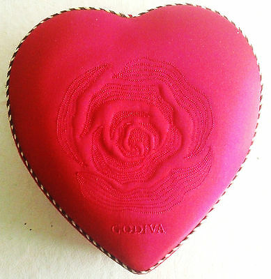 Godiva Satin Valentine Heart Candy Box, Empty, Issued in 2004