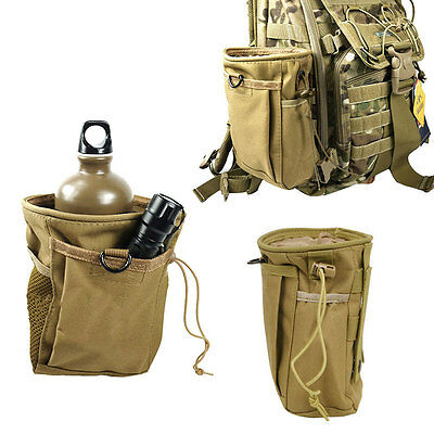 AU Outdoor Military Tactical Camping Hiking Waist Bag Pack Molle Pouch Case BK