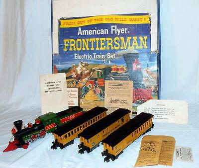 1960 American Flyer SET 20551 SEARS Frontiersman Passenger Old Time uncatalogued