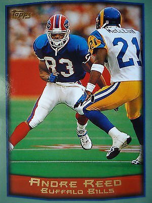 NFL 307 Andre Reed Buffalo Bills Topps 1999