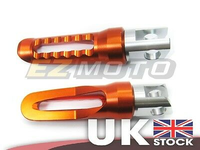 Front Footpegs Footrest Foot Rest Pegs Orange fit Suzuki SV650/ SV650S 99-10