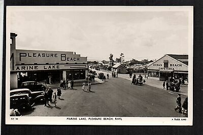 Rhyl -  Marine Lake and Pleasure Beach - real photographic postcard