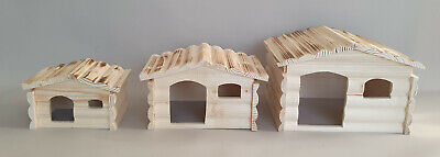 Wooden House Wood Rodents Animals Hamster Mice Mouse Rat Cage Pet Supplice