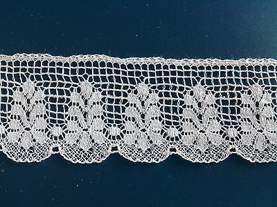 Delicate British Made Pretty Cluny Cotton Lace Edging Dress Trim Lingerie Crafts