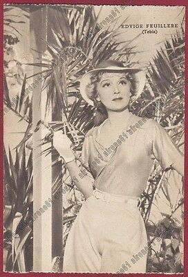 EDWIGE FEUILLÈRE 01 ATTRICE ACTRESS ACTRICE CINEMA MOVIE FRANCE Cartolina 1939