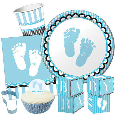 Sweet Baby Feet Pink Baby Shower Party Range Girl Tableware Balloons