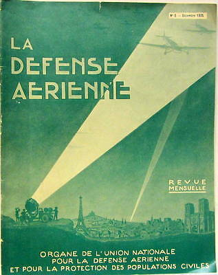 1935 La Defense Aerienne Dessin De Jeanjean L'aviation Italienne Allemagne