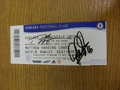 22/09/2010 Autographed Ticket: Chelsea v Newcastle United [Football League Cup]