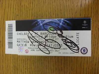 18/04/2012 Autographed Ticket: Chelsea v Barcelona [Champions League] - Hand Sig