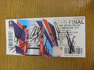 14/04/2013 Autographed Ticket: FA Cup Final Semi-Final, Manchester United/Chelse