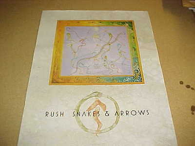 "RUSH ""Snakes & Arrows"" MINT Cndt PROMO ONLY POSTER!!"