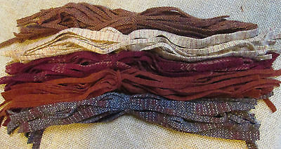 OLD BRICK WALLS 125  #8 hand & mill dyed Primitive Rug Hooking Wool Strips