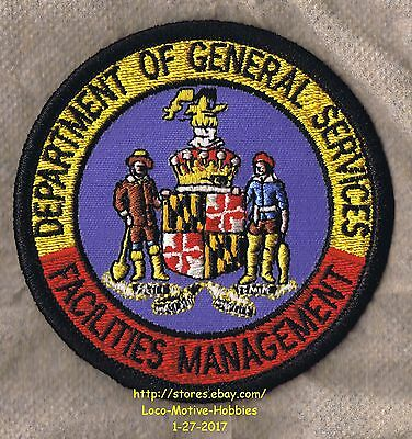 LMH Patch Badge FACILITIES MANAGEMENT Department GENERAL SERVICES Maryland COA