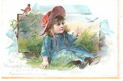 Midsummer Greeting Lion Coffee Woolson Spice Co Toledo Victorian Trade Card