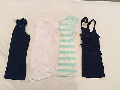 Lot of 4 Women's Shirts Tops Delia's, American Eagle Outfitters,Hollister ~Sz XS