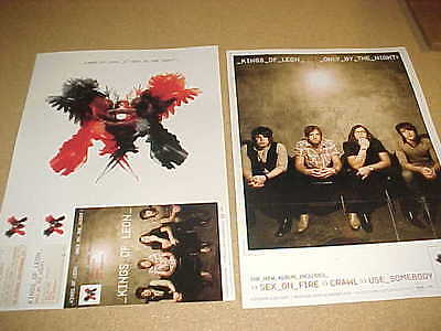 """KINGS OF LEON """"Only By The Night"""" MINT Cndt 2 sided PROMO ONLY POSTER!"""