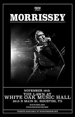 MORRISSEY 2016 HOUSTON, TEXAS CONCERT TOUR POSTER - The Smiths, New Wave Music
