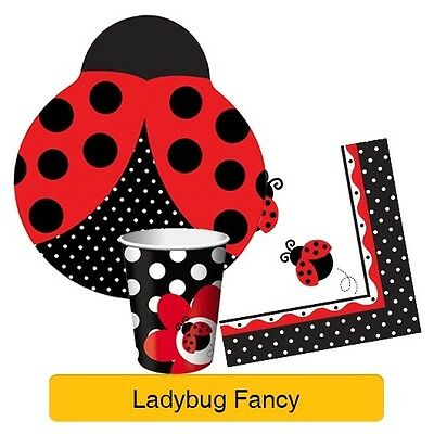 LADYBUG FANCY Birthday Party Range - Girl (1st) Tableware Supplies & Decorations