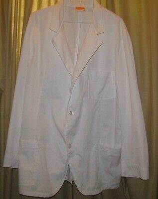 Mr Barco Overpro Mens Size XL 46 lab coat White Professional Student Consultant