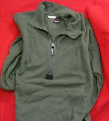 Usmc Polartec Pullover 3/4 Zip Od Green Marine Corp Issue Excel  Med & Small