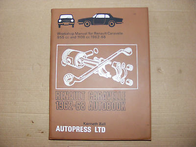 Renault Caravelle Coupe & Convertible 1962-1968 Autobook Manual    Freepost