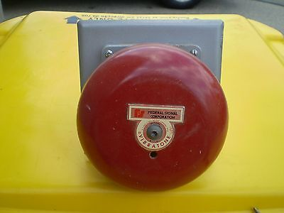Vintage Red Fire and burglar alarm Bell