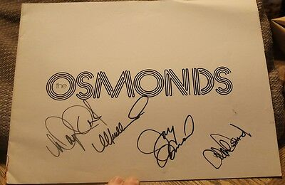 The Osmonds 1975 Tour Book Program-Signed By Alan, Wayne, Merrill And Jay!!!