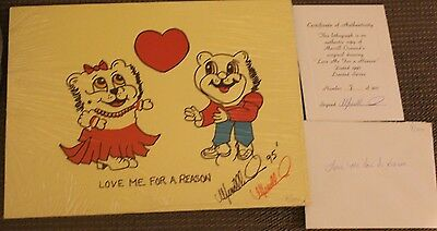 "Merrill Osmond ""love Me For A Reason"" Lithograph Copy. 1995 - #8/300 - Signed!"