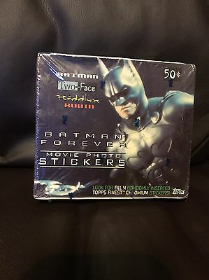 Batman Forever Movie Photo Stickers Unopened Sealed Box Topps