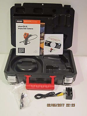 Ridgid 40043 Micro Ca-25 Inspection Camera Kit,empty Case+Accessories Only-F/shp