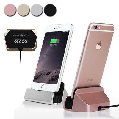 Portable Charger Charging Stand Dock Cradle Cable For iPhonex 8 7 6 6plus 5 5S