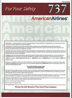 Safety Card - American - B737 - 2000  (S1443)