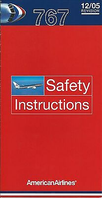 Safety Card - American - B767 - c2005  (S1103)