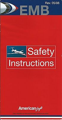 Safety Card - American Eagle - EMB - c2006  (S2079)